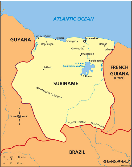 Shipping to Suriname from USA