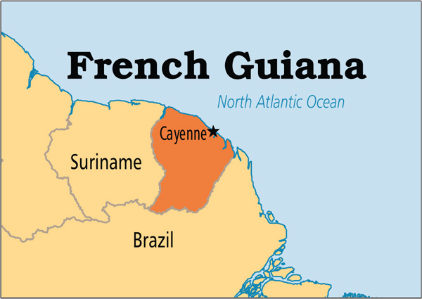 Shipping to French Guiana from USA
