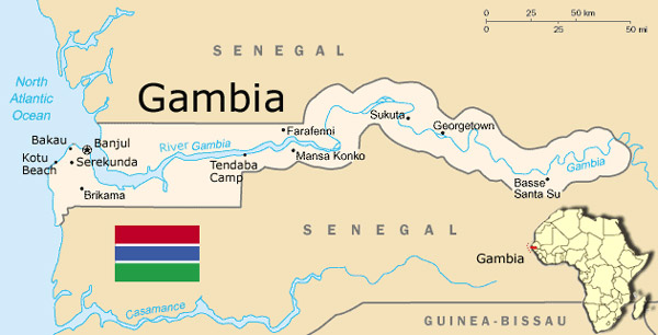 Shipping to Gambia from USA
